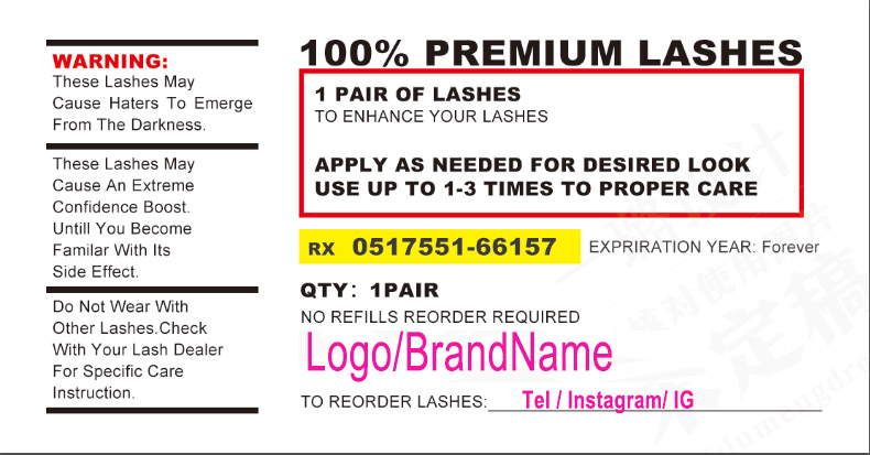 100 500 etiquetas personalizadas feitas sob encomenda dos pces logotipo etiquetas dos cilios etiquetas do batom