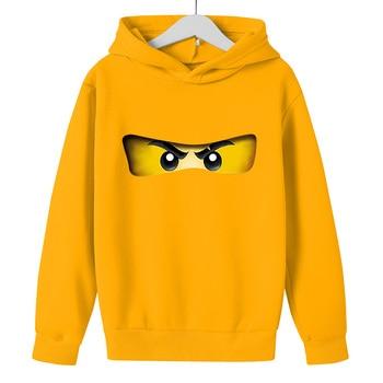 Boy hoodie 2021 Autumn winter Kid Legoes Ninjago Sweatshirt Cotton Top Girl Long sleeve Pullover Children 5-14y Hip hop clothes 1