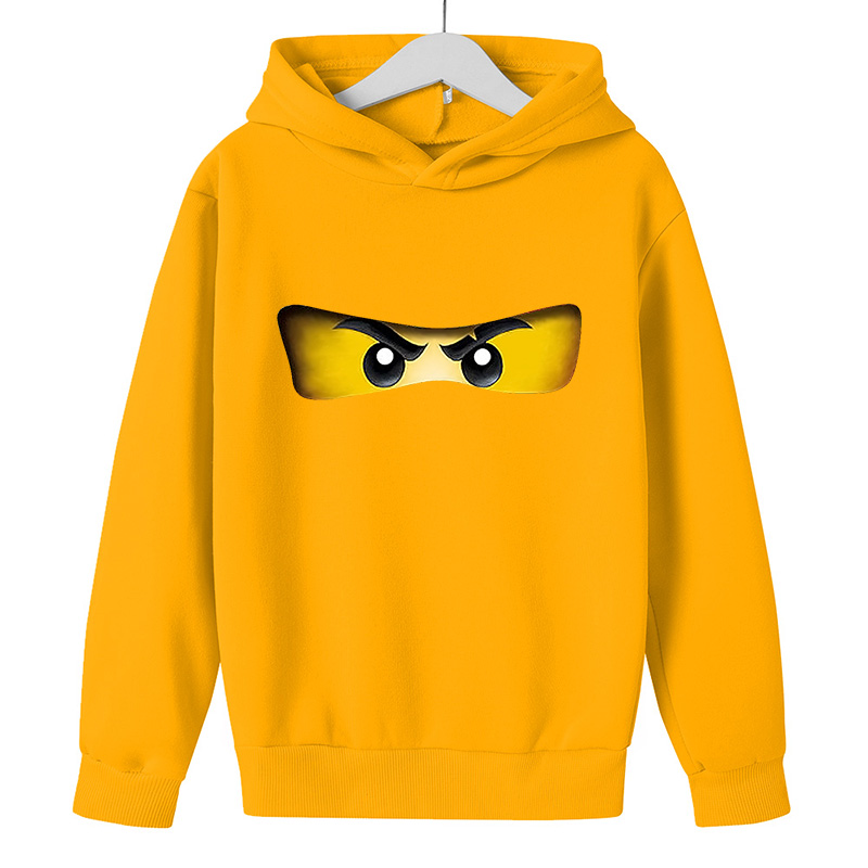Худи для мальчиков, 2021 куртка на осень и зиму в стиле Лего и принтом «LEGO Ninjago», свитер с капюшоном из хлопка для девочек, топы для девочек с дли...