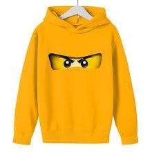 Erkek hoodie 2021 sonbahar kış çocuk Legoes Ninjago kazak pamuklu bluz kız uzun kollu kazak çocuk 5-14y Hip hop giysileri