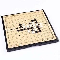 Conjunto de xadrez magnético go 13*13 linha tabuleiro de xadrez jogo de mesa acrílico preto branco peças de xadrez quebra-cabeça de viagem jogos de mesa brinquedo para o miúdo