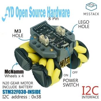 M5Stack RoverC programmable remote control Mecanum omnidirectional wheel mobile robot