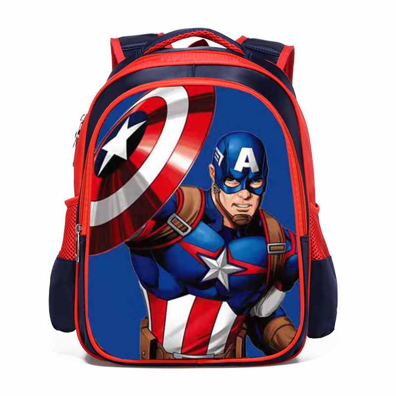 Los Vengadores Iron Man Spiderman Capitán América niño niña niños guardería mochila escolar adolescente mochilas escolares estudiantes