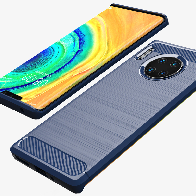 Case For Mate 30 Pro Soft TPU Shockproof Cover Carbon Fiber Texture Brushed Cases For Huawei Mate 30 Mate30 Pro Case Coque