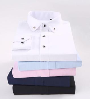 2019 HOT Fashion  Dress Shirts Men Long Sleeve Casual White Shirt Men Slim Shirt Male Clothing Tops p9820-1-18
