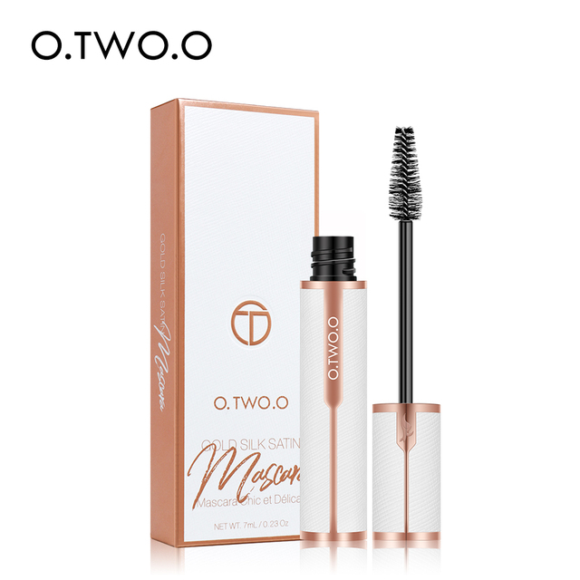O.TWO.O Mascara Waterproof 4D Silk Fiber Curling Volume Lashes Thick Lengthening  Nourish Eyelash Extension High Quality Makeup 5