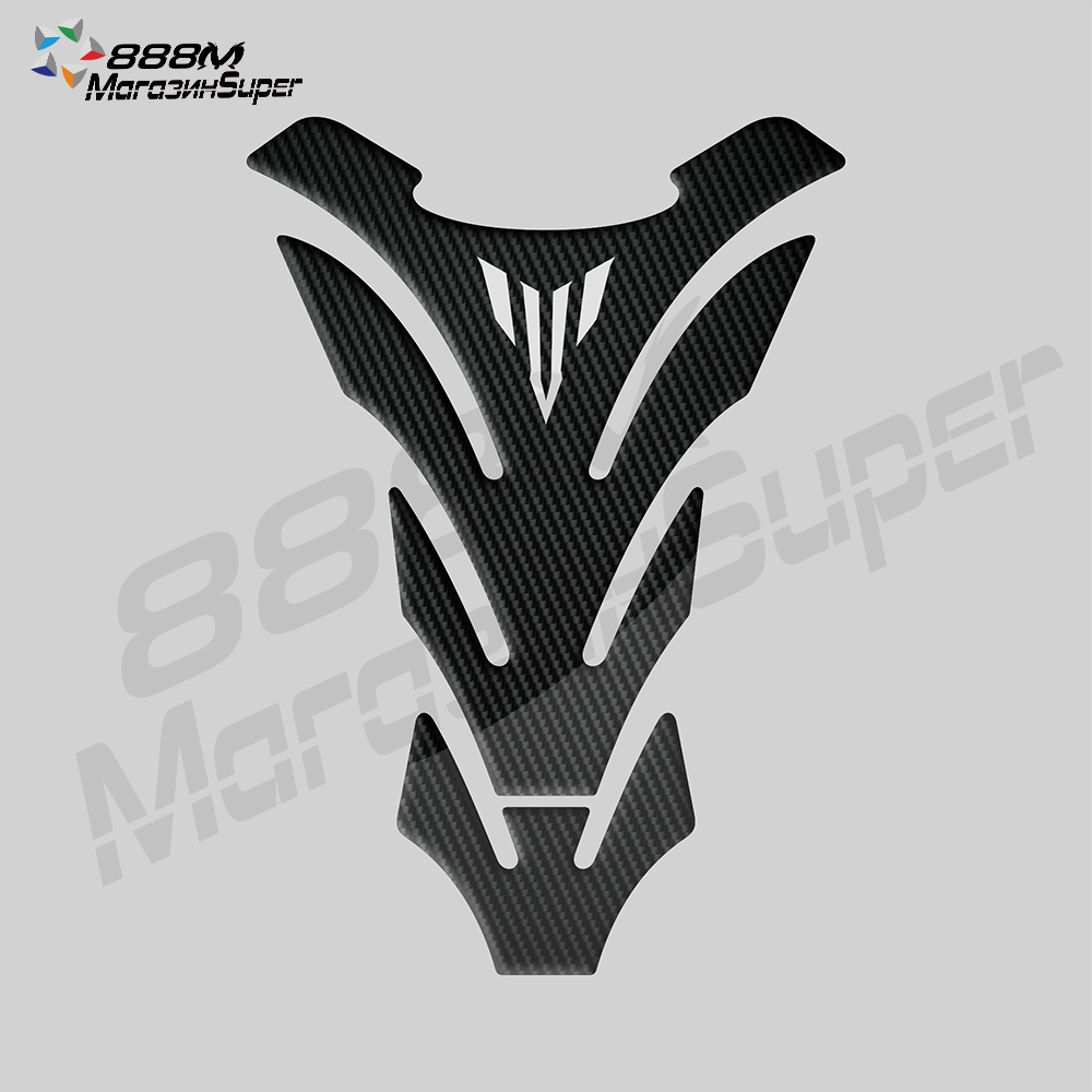 For Yamaha MT01 MT03 MT09 MT10 MT-09 3Colour Tank Sticker 3D Carbon Look Motorcycle Tank Pad Protector Decal Stickers Case(China)