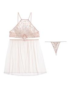 Image 5 - Sexy Nachtkleding Kant Nachthemd Nachthemden Mesh Garen Roze Open Back Patch Bandjes Sleepdress Lingerie voor Vrouwen Zomer