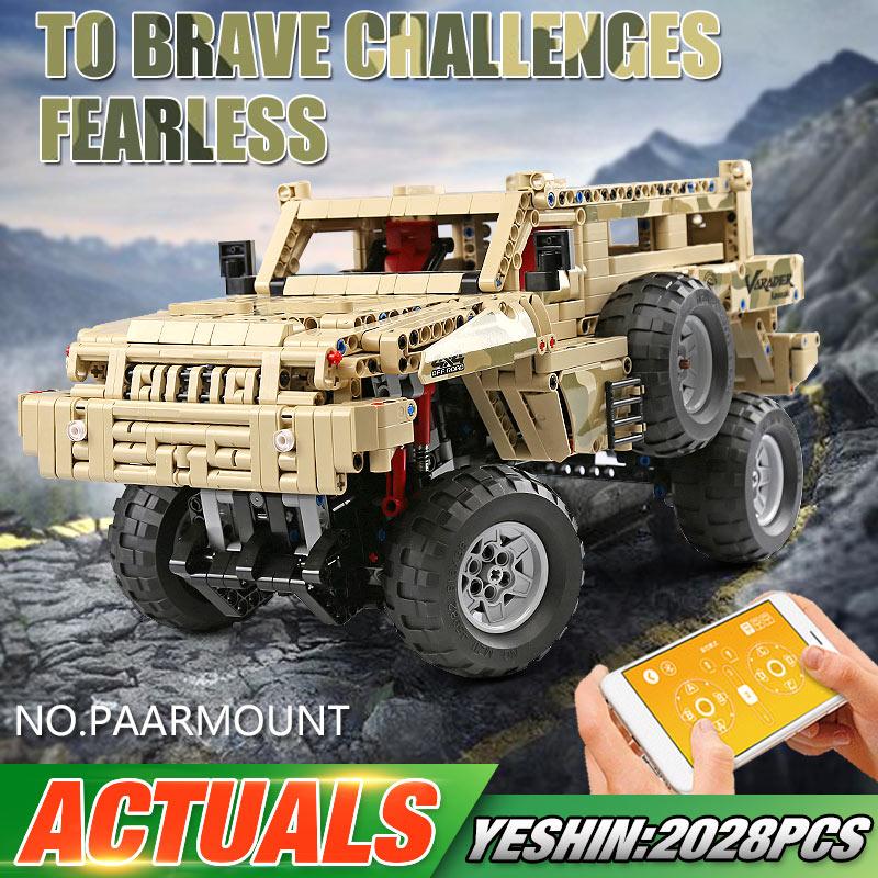 MOULD KING 13131 APP RC High-Tech Toys Compatible With MOC-4731 Marauder Car Model Building Blocks