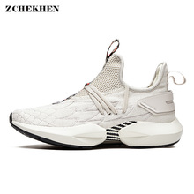 New High Top Platform dad Sneakers Men mesh Stretch Dragon embroidery Shoes White Thick Sole tenis masculino adulto