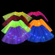 Tutu Led-Skirt Glow-Light Festival Christmas-Tree-Gift Party Halloween Luminous Birthday