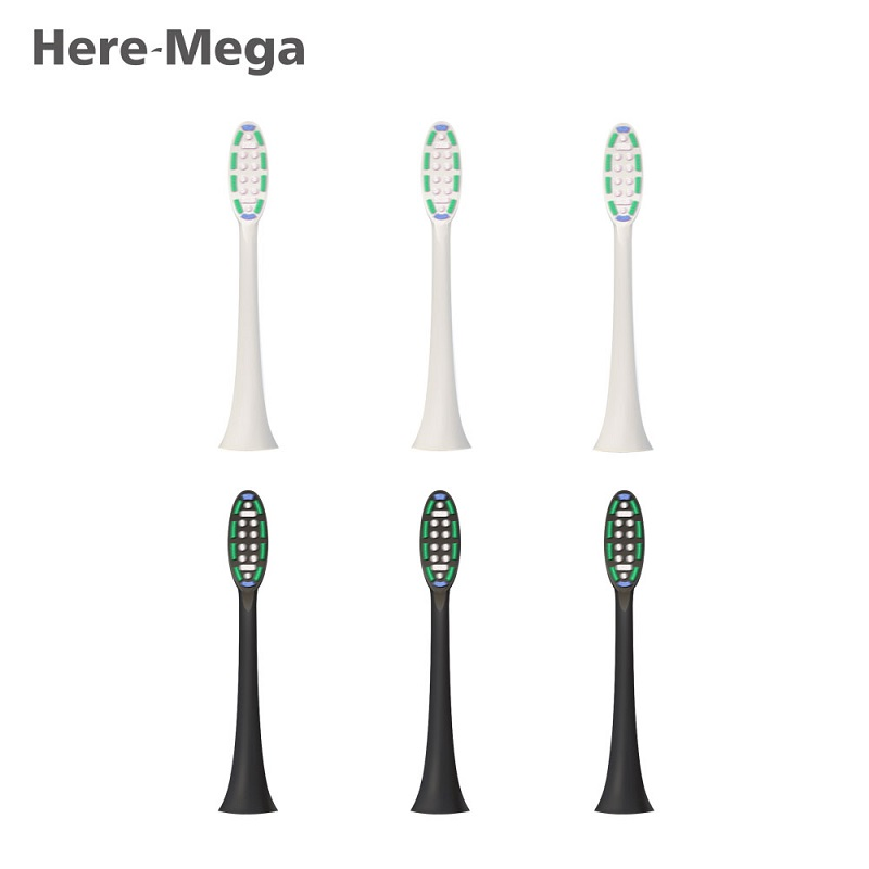 HERE-MEGA DuPont Soft Toothbrush Head For 608