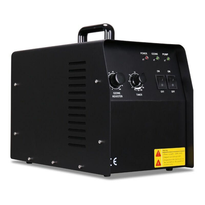 150W 7G/H EU Ozone Generator Machine Ceramic Tube Either Ozone Yield Timer 2 Air Source For Air Purifier Water Sterilization