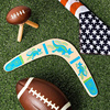 New Kangaroo Throwback V Shaped Boomerang Flying Disc Throw Catch Outdoor Game Boomerang for Kids Toys Gift