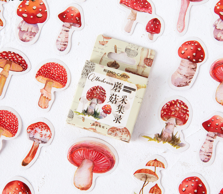 S1- Acquire Mushroom Diy Decorative Sticker(1pack=45pieces)