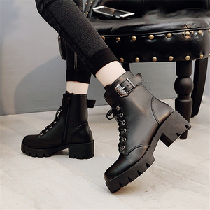Image 5 - Fashion Leather Martens Boots Women shoes Winter Warm Lace up Ankle Boots For Woman High Quality Waterproof Platform Boots Drop