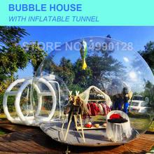 Бесплатная доставка ПВХ пузырьковый дом с надувным купольным