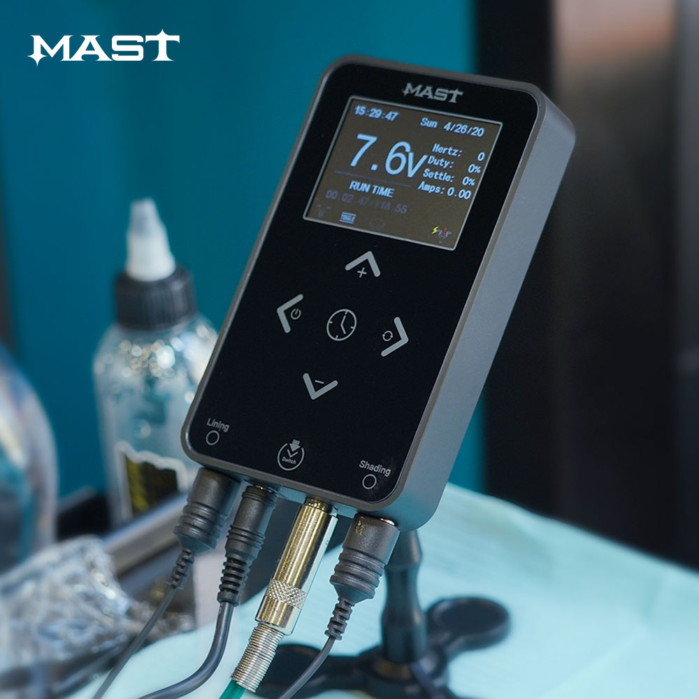 Newest Mast Touch Screen Power Supply Tattoo Power For Tattoo Machine Supply Digital Tattoo Machine Power Permanent Make Up