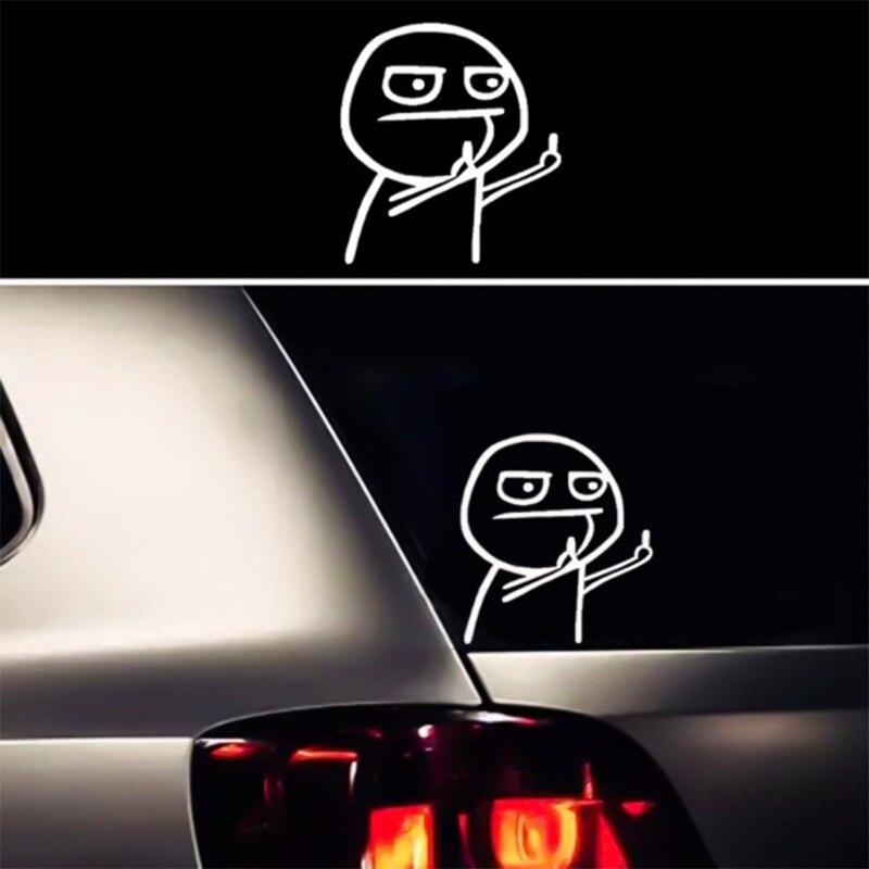 Забавная наклейка для автомобилей мультфильм средний палец для SEAT Leon 1 2 3 MK3 FR Cordoba Ibiza Arosa Alhambra Altea Exeo Toledo Cupra|Наклейки на автомобиль|   | АлиЭкспресс
