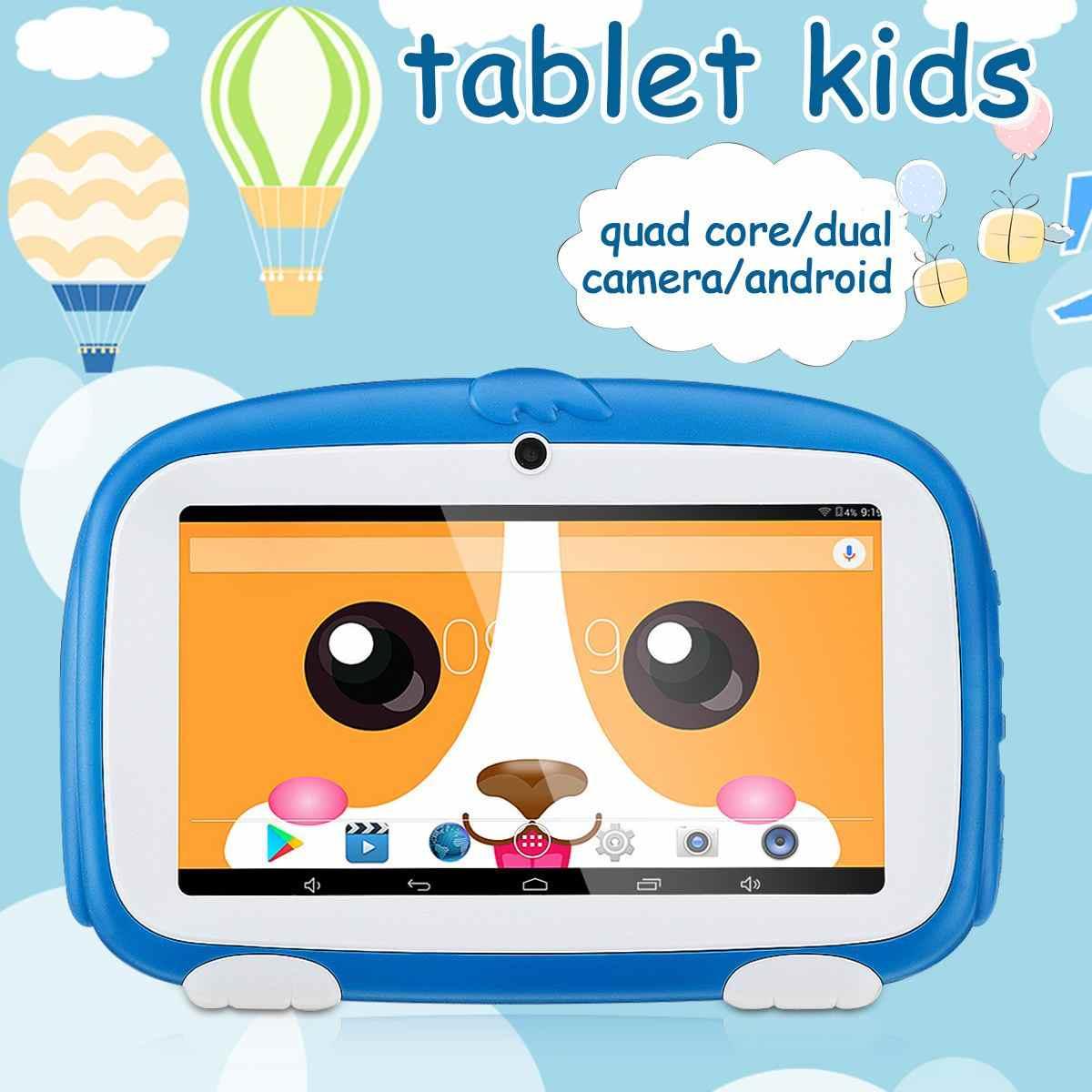7 polegada Tablet PC Câmera Dupla WIFI Tablet Multi-língua das Crianças Dos Desenhos Animados para o Android para Crianças dos miúdos Foto aprendizagem Presente