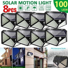 100 Led Solar Light Outdoor Solar Wall Lamp LED Bulb IP65 PIR Motion Sensor Lampara Solar Lighting Garden Decoration Lights