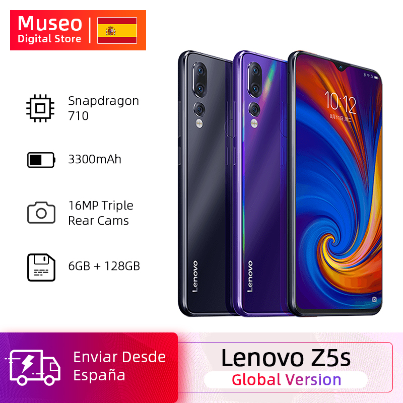 Global Version Lenovo Z5s Snapdragon 710 Octa Core 6GB 128GB SmartPhone Facial Identification 6,3 AI Threefold Rear Camera