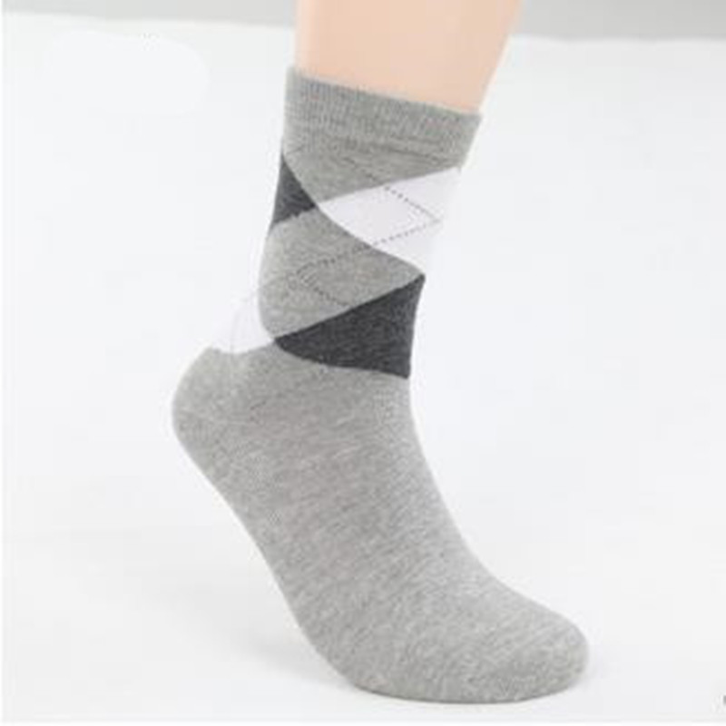 5Pair/Lot Men's Socks Autumn/Winter Solid Casual Men Cotton Socks Male Crew Multi Business Socks Black/White37-42 GNW0009
