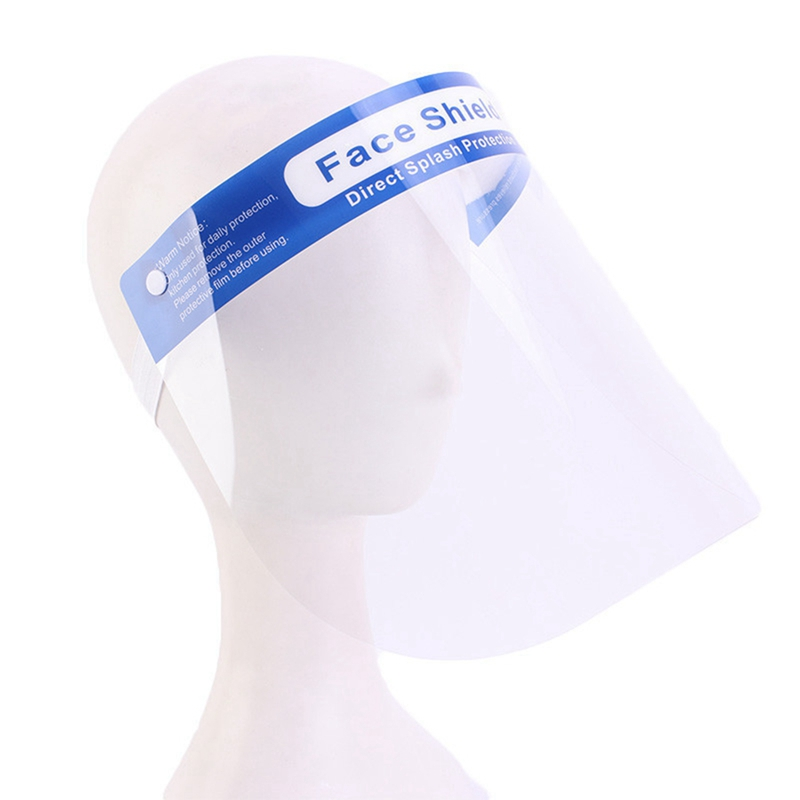 Anti Droplet Visually Face Shield Safety Visors Mask Protective Mouth Cover Summer Transparent Eyes Protection Adjustable Caps
