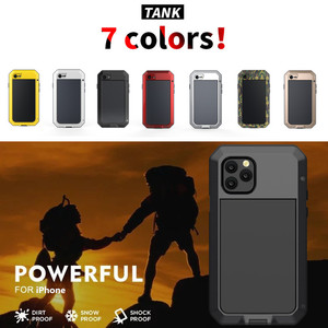 Image 2 - 무거운 의무 보호 갑옷 금속 알루미늄 전화 케이스 아이폰 11 12 미니 프로 XS 최대 SE 2 XR X 6 6S 7 8 플러스 충격 방지 커버