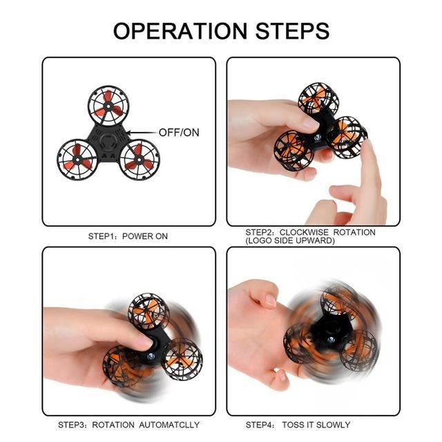 Volant fidget spinner Mini Drone doigt autisme anxiété soulagement du Stress mouche spiner Boomerang jouet drôle jeu cadeau jouets