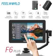 FEELWORLD F6 PLUS 5.5 Cal na aparacie DSLR Monitor zewnętrzny ekran dotykowy 3D LUT IPS FHD 1920x1080 fokus wideo pomoc 4K HDMI