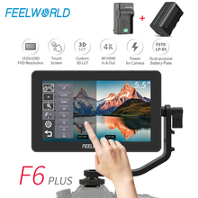 Feel world F6 PLUS 5.5 بوصة على كاميرا DSLR جهاز المراقبة الميدانية ثلاثية الأبعاد LUT شاشة تعمل باللمس IPS FHD 1920x1080 الفيديو التركيز مساعدة دعم 4K HDMI