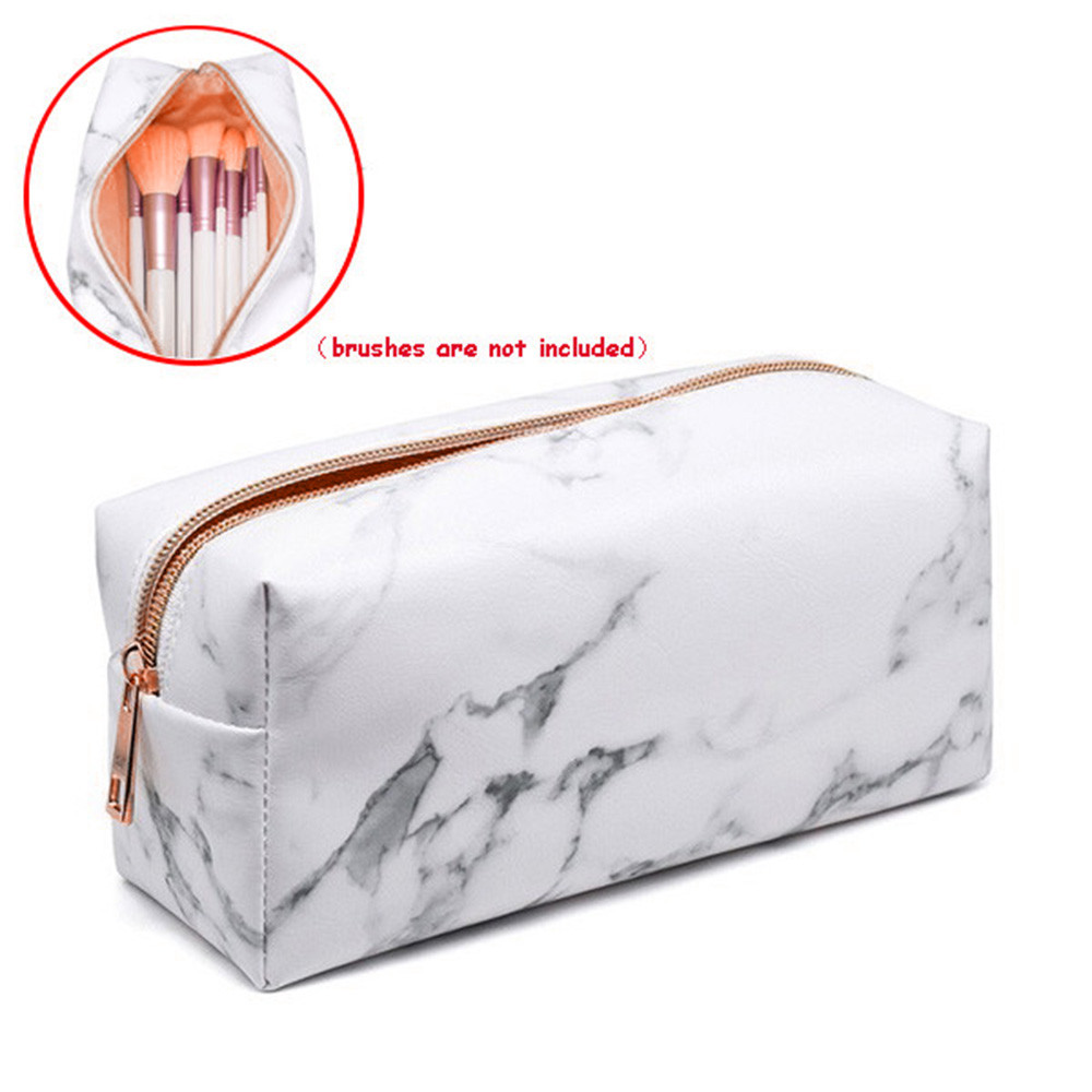 Bags Toiletry-Bag Makeup-Case Marble Square Beauty Travel Multifunction Girls Fashion title=
