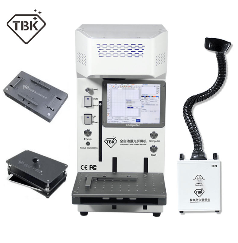 Auto 958A LCD drukarka laserowa DIY maszyna do napraw dla iphone 11 X XS XSMAX powrót szklane etui rama oddzielna laserowa maszyna grawerująca