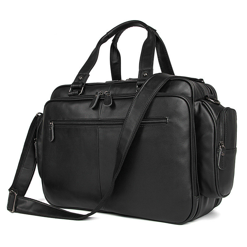 Men Business 15.6 Inch Laptop Briefcase Bag Handbag Leather Bag Men Shoulder Messenger Bag 16 Maletines Hombre Cuero