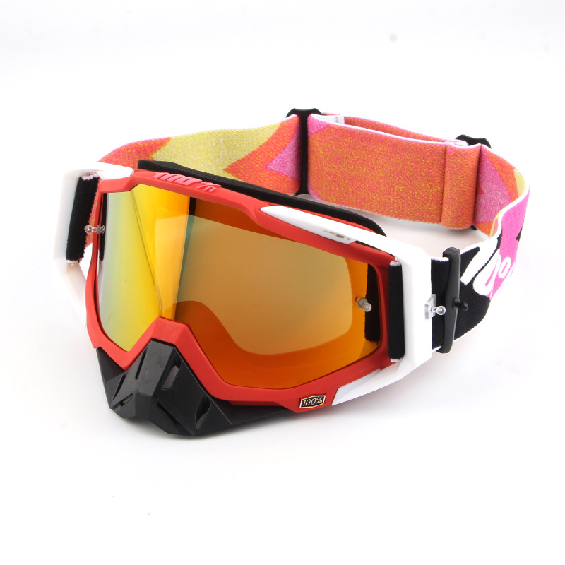 Hundred Percent Motorcycle Glasses Cool Knight Off-road Riding Eye-protection Goggles Downhill Racing Helmet Goggles One-piece S