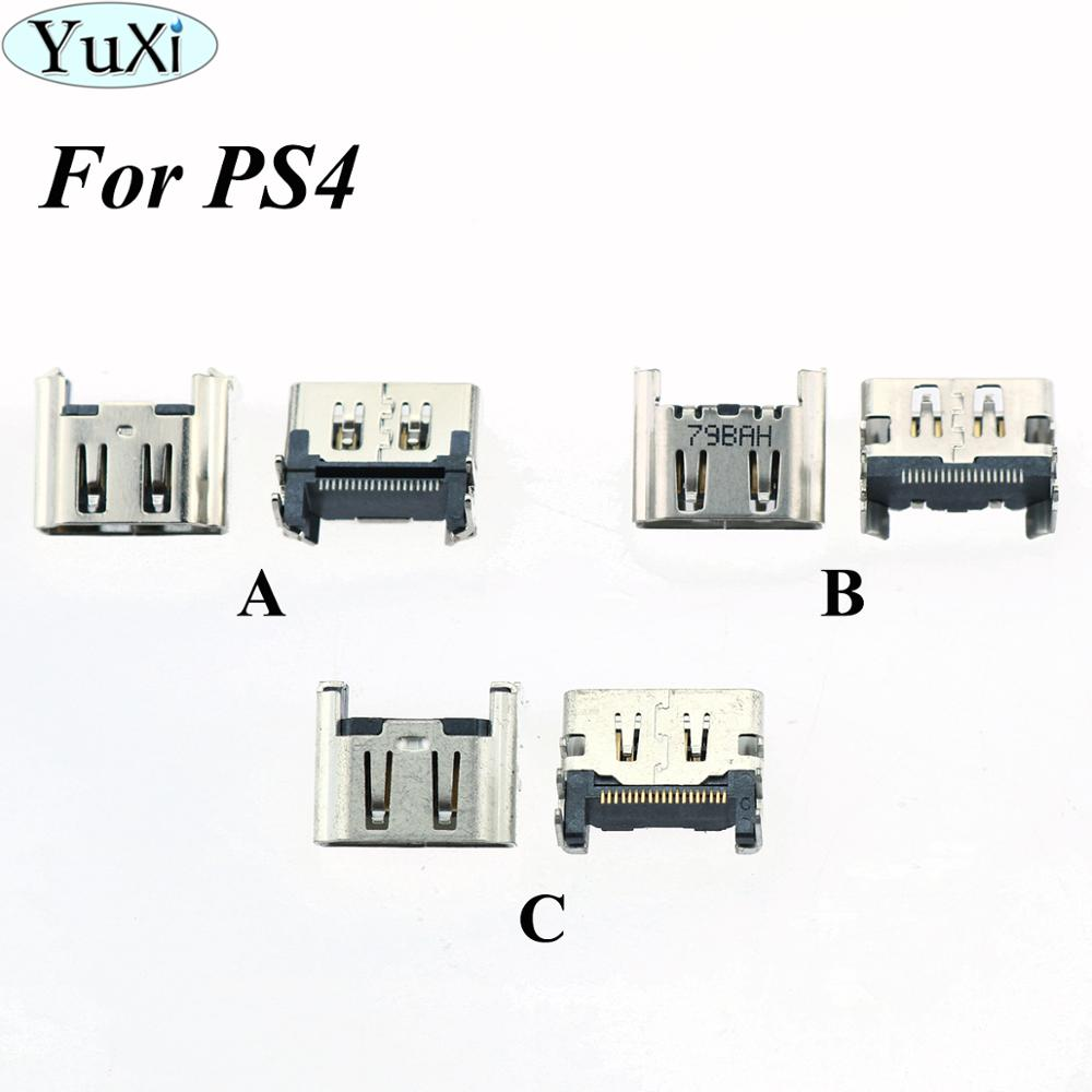 YuXi For <font><b>PS4</b></font> Display HDMI Port Socket Jack <font><b>Connector</b></font> For PlayStation 4 Console Port image