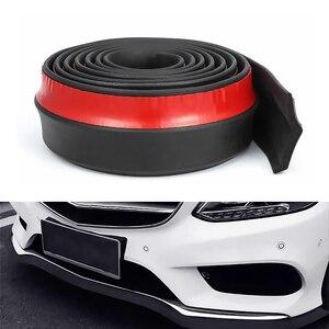 2.5m Car Protector Front Bumper Lip Splitter Car Sticker Body Kit Spoiler Bumpers Valance Chin Car Rubber Strip 50mm Width