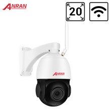 Anran ptz câmera ip 2mp ao ar livre velocidade dome câmera de segurança cctv câmera 30x zoom de vigilância de vídeo onvif visão noturna à prova dwaterproof água