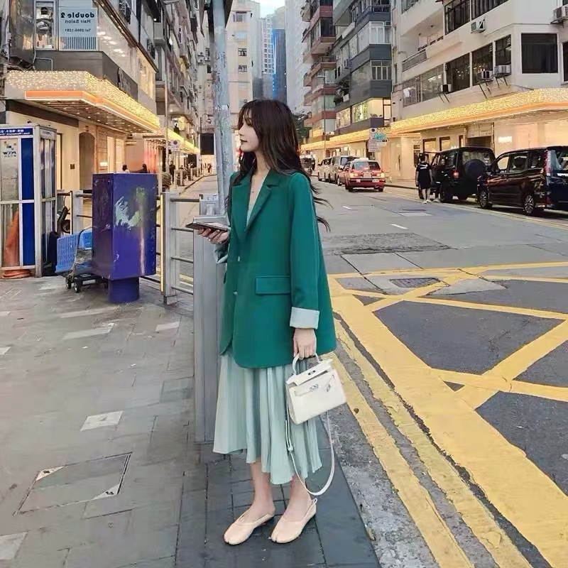 Spring 2020 Temperament Small Suit Jacket New Suit Female Fashion Foreign Style British Style Coat Dress Two-piece Suit Skirt
