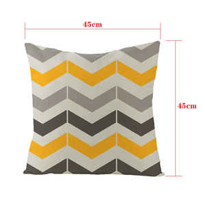 Image 3 - YIANSHU 45*45cm Geometric Cushion Covers Yellow And Gray Rhombus Pillow Case For Home Chair Sofa Decoration Square Pillowcases