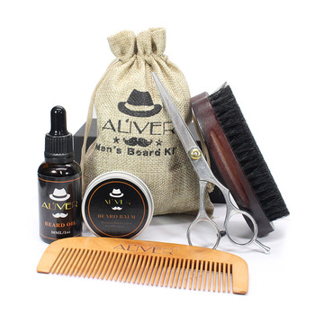 Newly Men Beard Care Grooming Trimming Kit Unscented Beard Conditioner Oil Mustache for Shaping Growth CLA88 3