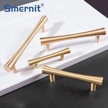 Латунные мебельные ручки скандинавские золотые твердые шкафа