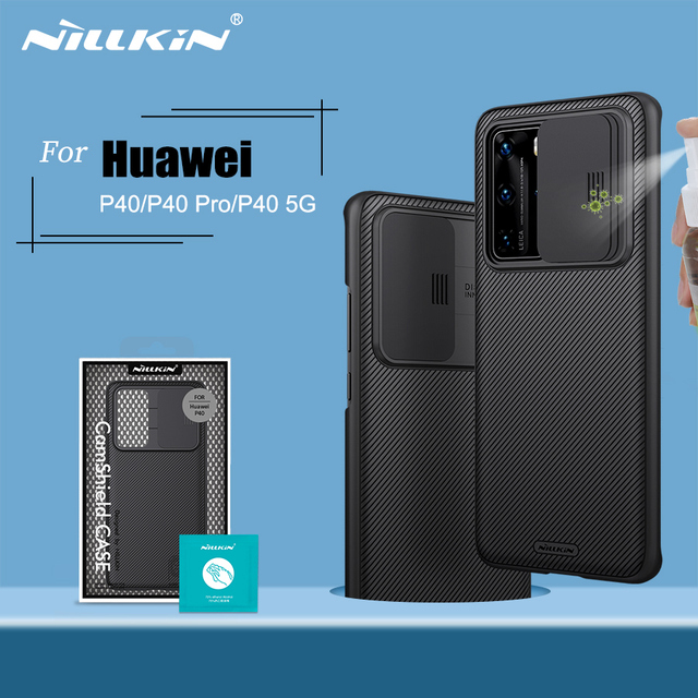 For Huawei P40 Case P40 5G Cover NILLKIN CamShield Case Slide Camera Protect Privacy Clean Back Cover for Huawei P40 Pro Case