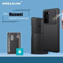 עבור Huawei P40 מקרה P40 5G כיסוי NILLKIN CamShield מקרה שקופיות מצלמה להגן על פרטיות נקי חזרה כיסוי עבור Huawei p40 פרו מקרה