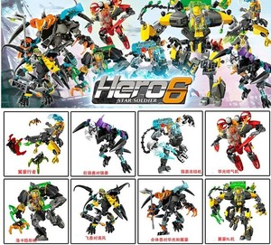 Image 2 - Out of print Hero Factory StarWar Soldiers Robots  Hero Factory 4 5 6 Von Nebula Bionicle DIY Bricks Toys