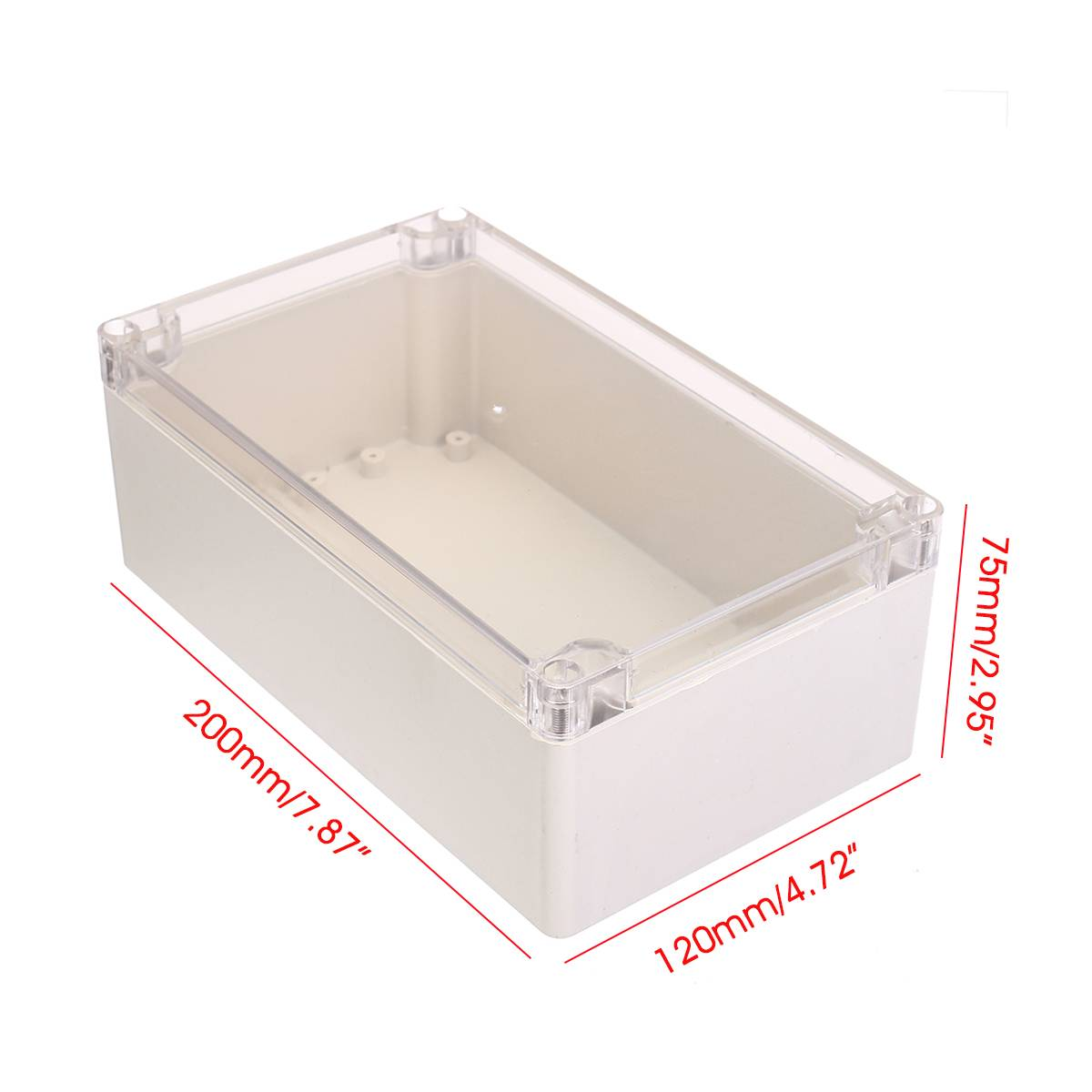 200*120*75mm Plastic Project Box Electronic Box Enclosure Waterproof Housing Case