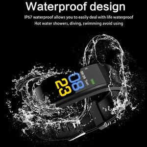 Image 5 - Akıllı bilek bandı spor nabız monitörü kan basıncı pedometre sağlık koşu spor akıllı saat erkekler kadınlar için IOS Android