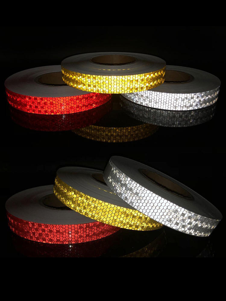 Adhesive-Tape Bike-Stickers Bicycle-Accessories Reflective Safety White for Red Yellow