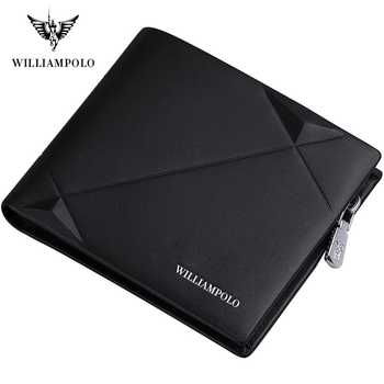 Williampolo 2019 Men's Slim Wallet Genuine Leather Mini Purse Casual Design Bifold Wallet Brand Short Slim Wallet - DISCOUNT ITEM  49% OFF All Category